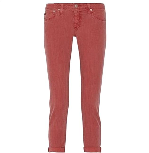 Item - Red & Gray Striped Light Wash The Stilt Capri/Cropped Jeans Size 26 (2, XS)