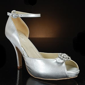 Angela Nuran Silver Starletta Formal Size US 9