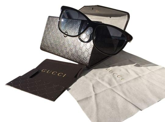 Gucci Gucci black round shape embossed sunglasses