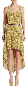 BCBGeneration short dress Yellow / Multi Hi Lo on Tradesy