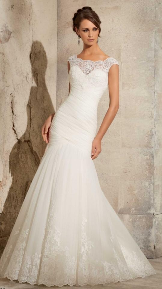 Mori lee ivory lace satin tulle 5305 traditional wedding dress mori lee ivory lace satin tulle 5305 traditional wedding dress size 22 plus 2x junglespirit Images