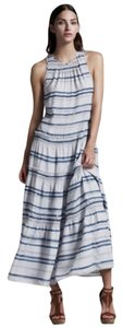 Blue and White Maxi Dress by Theory