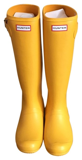 Item - Yellow Rain Tall Boots/Booties Size US 8 Regular (M, B)