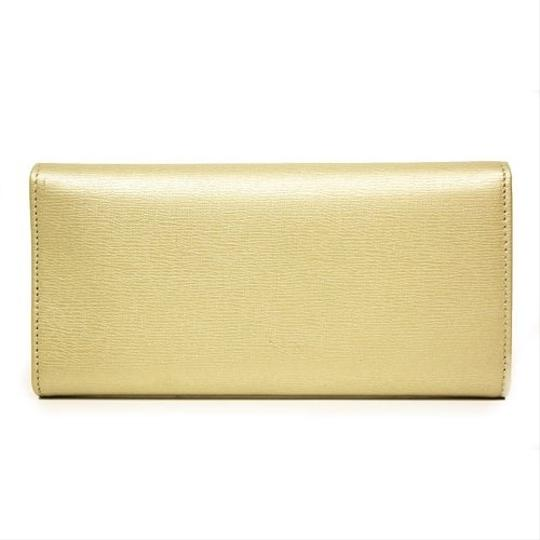 Gucci Gucci Leather Continental Wallet w/Interlocking G Gold 309714