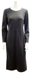 Armani Collezioni New Giorgio Armani Dark Blue Long Sleeve Straight Sheath 14 Xl Dress
