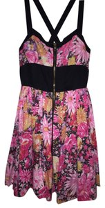 BB Dakota short dress Multi Floral Crossback Straps on Tradesy
