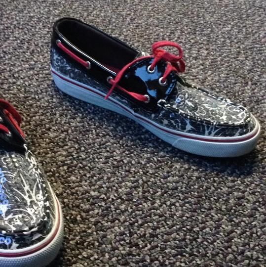 Sperry Black/white/red Athletic