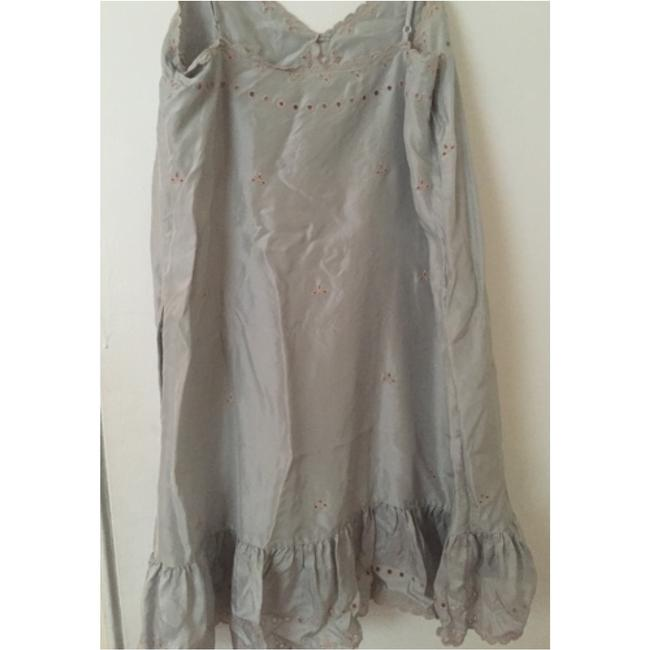 BCBGMAXAZRIA short dress Silver Silk Embroidered on Tradesy