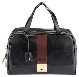 Marc Jacobs Frankie Leather Satchel in Black