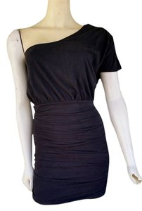 Freshine short dress Gray Moleskin Charcoal One Mini on Tradesy