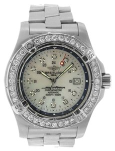 Breitling 2.50CT BREILING SUPEROCEAN A17390 STAINLESS STEEL WATCH WITH APPRAISAL