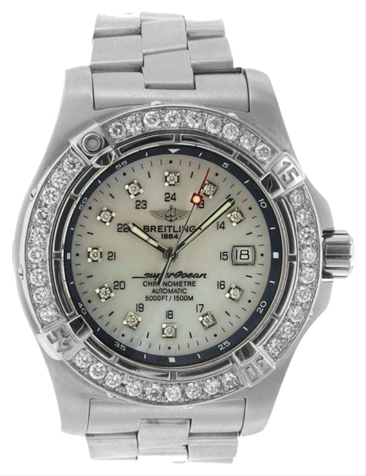 info for 17f74 d2a44 Breitling 2.50ct Superocean A17390 Stainless Steel with Appraisal Watch 71%  off retail