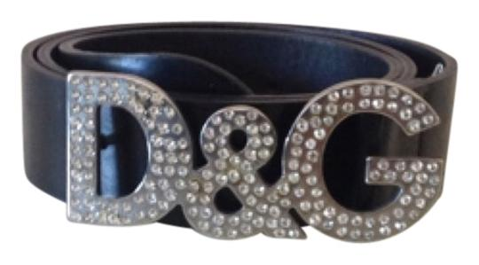 D&G Women'sBelt with Crystals on Buckle Great Condition 100% Aithentic