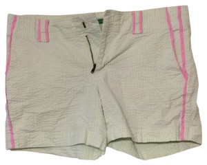 Lilly Pulitzer Mini/Short Shorts Green and white striped with pink