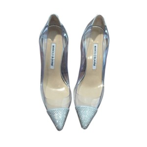 Manolo Blahnik Pachacry Jeweled Cap Toe Pumps Wedding Shoes