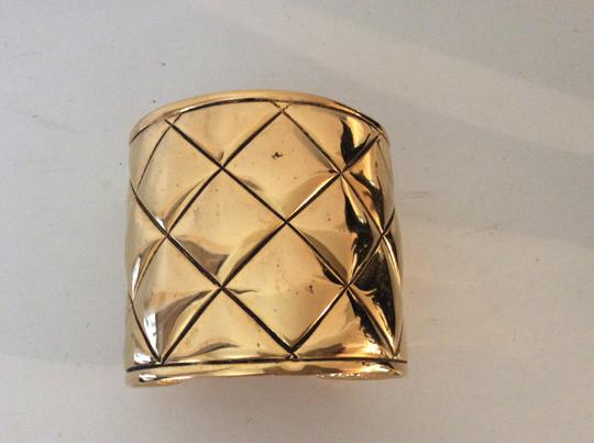 Chanel CHANEL RARE VINTAGE GOLD PLATED CUFF BRACELET
