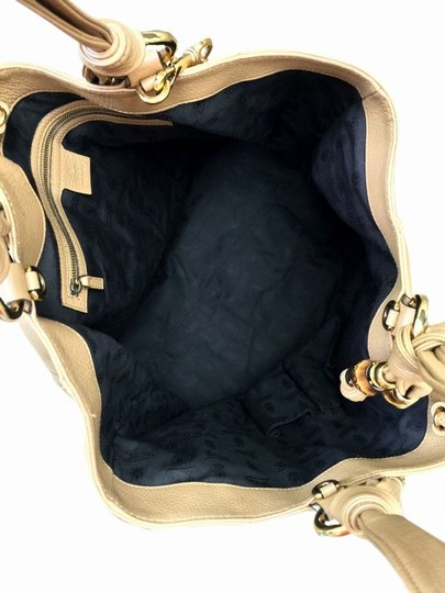 Gucci Bamboo Gold Hardware Leather Tote in Camel