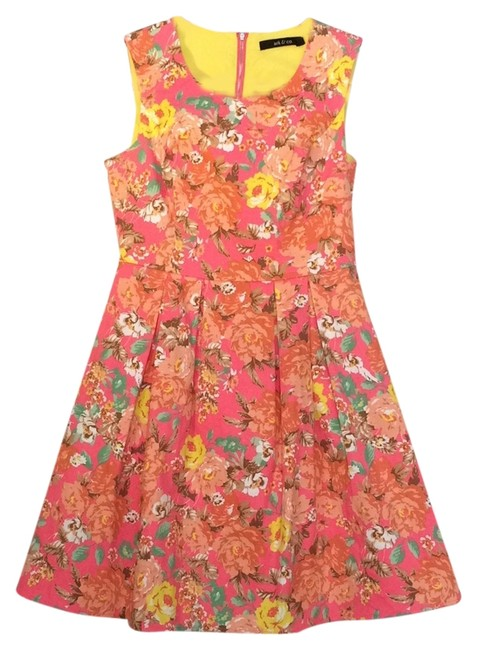 Ark & Co. Print Floral Fitted Dress
