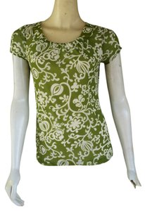 Ann Taylor Mesh Top Green