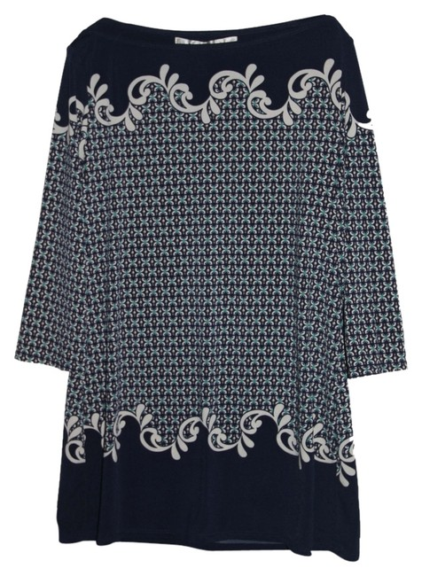 Preload https://item2.tradesy.com/images/max-studio-navyturquoiseivory-classic-tunic-size-4-s-5066821-0-0.jpg?width=400&height=650