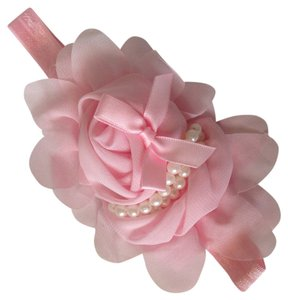 NEW Chiffon and faux pearl Elegant Childs Hair Band, great for gift