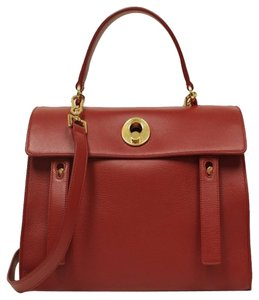 Saint Laurent Ysl Muse 2 Leahter Satchel in Red