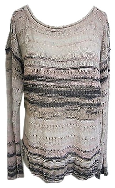 Tracy Reese Ombre Buttons Knit Striped Sweater