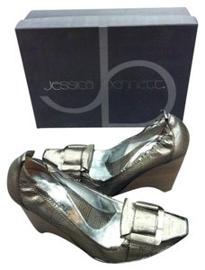 Jessica Bennett Pewter Wedges