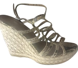 Stuart Weitzman Snake Skin, Neutral Wedges