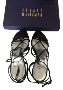 Stuart Weitzman Black Satin Formal