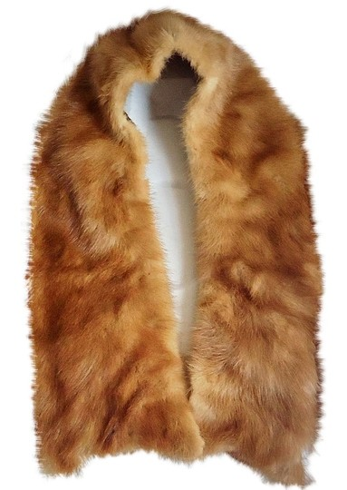 Other natural mink collar, fully lined