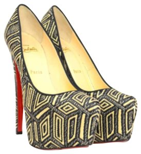 Christian Louboutin Black and Tan Platforms
