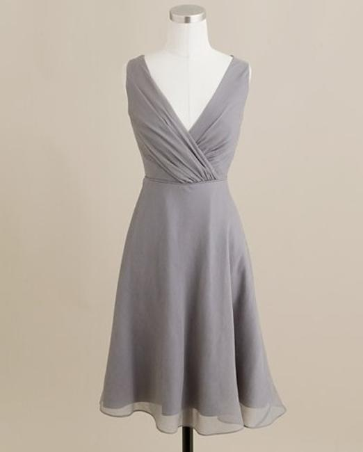 Item - Grey Silk Evie Graphite Traditional Bridesmaid/Mob Dress Size 10 (M)
