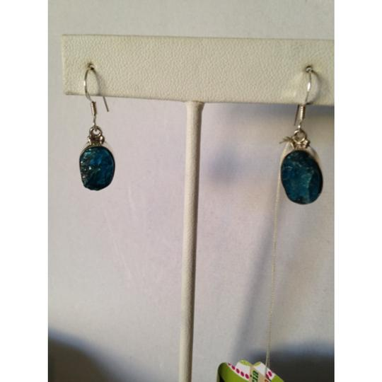 Other Embellished by Leecia Neon Apatite Rough Earrings Only! Matching Pieces Sold Seperately. Image 1