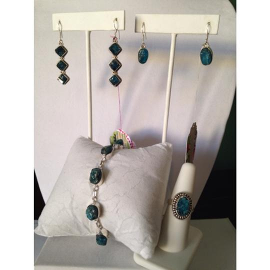 Other Embellished by Leecia Neon Apatite Rough Earrings Only! Matching Pieces Sold Seperately. Image 4