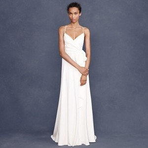 J.Crew White/Cream Silk Goddess Gown Wedding Dress Size 6 (S)