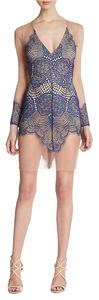 For Love & Lemons short dress Sapphire Blue & Blue Antigua Mini on Tradesy