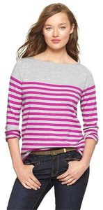 Gap Striped Eversoft Envelope Long Sleeve Colorblock Sweater