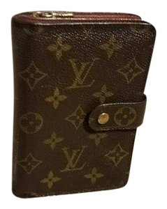 Louis Vuitton Auth LOUIS VUITTON Monogram Portepapier Zippe Wallet Bifold Purse