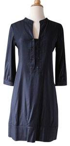 Theory Buttons Belted Dress