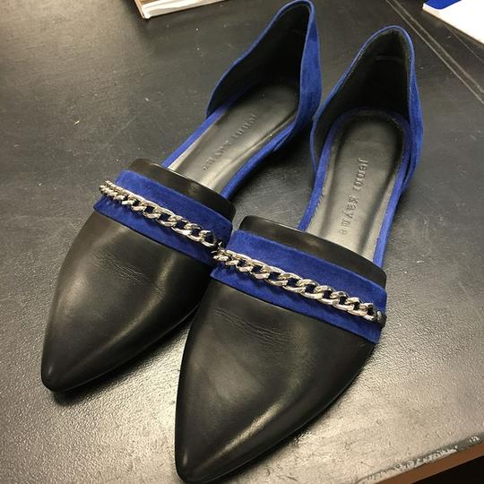 Jenni Kayne Chain Dorsay Leather Suede Flats