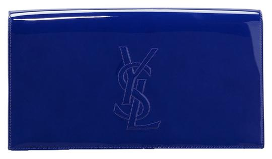 Saint Laurent Ysl Yves Oversized Luxury Blue Clutch