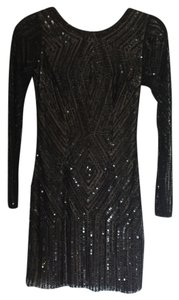 Adrianna Papell Beaded Embroidered Dress
