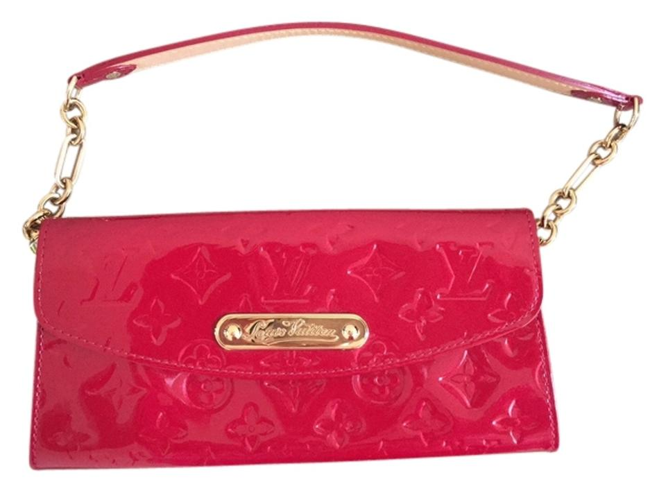 b987a1c6a3bd Louis Vuitton Monogram Vernis Sunset Boulevard Red Patent Leather Clutch