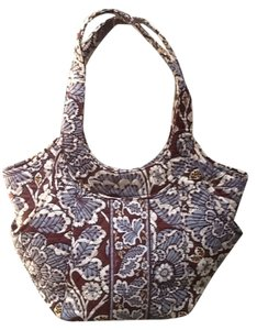 Vera Bradley Side By Side Magnetic Closure Double Handles Tote in Slate Blooms