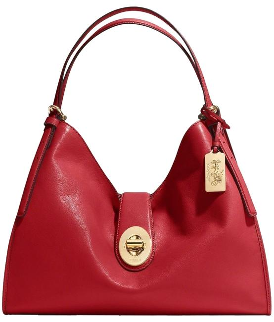 Item - Carlyle Madison Red Currant Leather Shoulder Bag