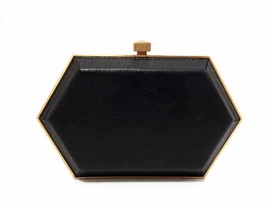 Be&D Kumamoto Snake Embossed Leather Tortoise Brown Clutch Image 10