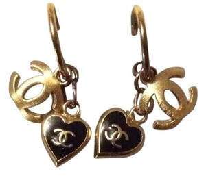 Chanel Gold Charm Earrings