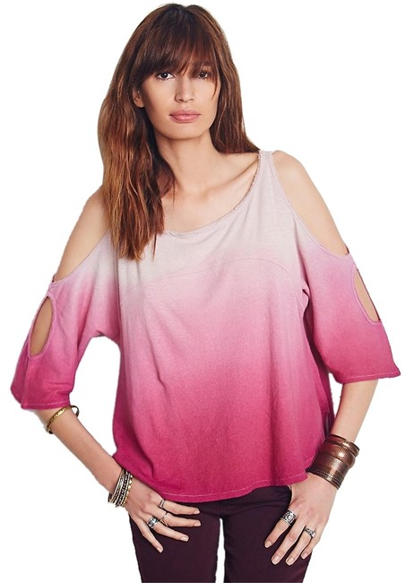 Preload https://item5.tradesy.com/images/free-people-pink-t-shirt-5073619-0-0.jpg?width=400&height=650
