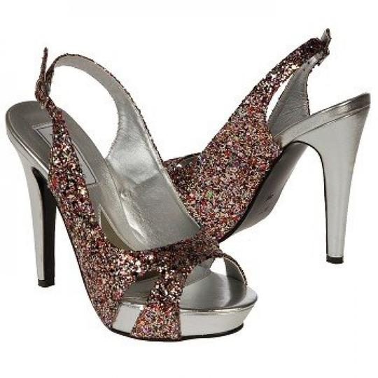 Touch Ups Glitter Formal Prom Heels Party Multi Pumps